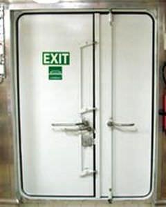 Porte pour navire / coupe-feu / pour chambre froide - GRP - LUBMOR