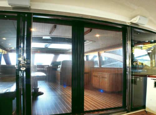 Porte Coulissante  Pour Bateau  Vitre  Courbe  Man Ship