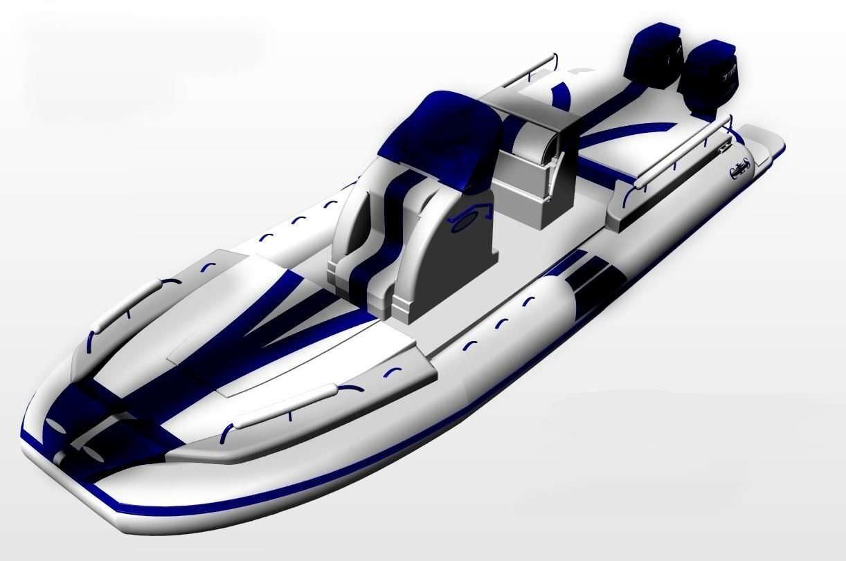 bateau a moteur gonflable