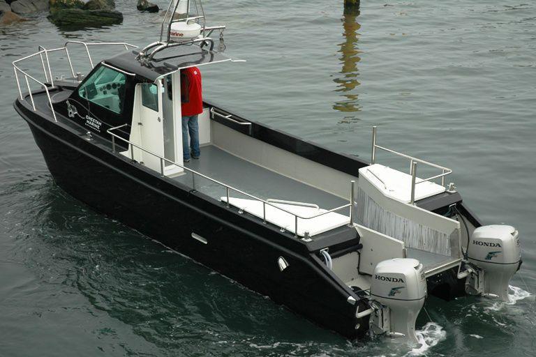bateau de peche moteur honda