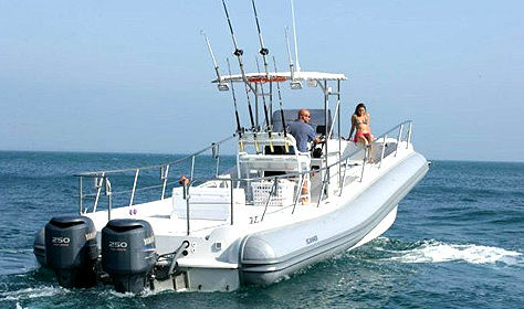 bateau de peche semi rigide
