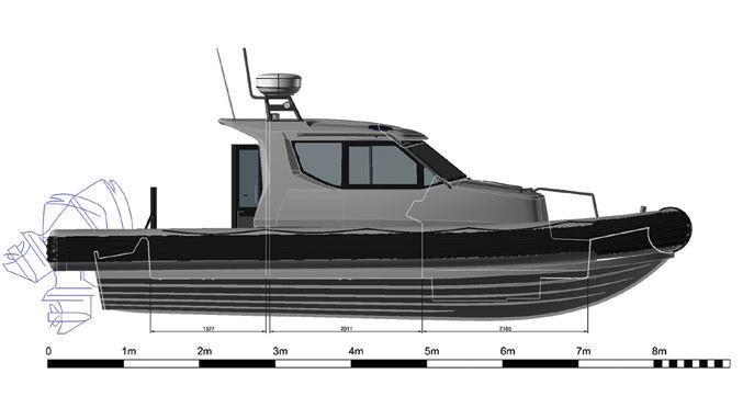 bateau 7m avec cabine