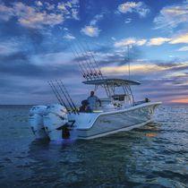 Coque open hors-bord / bi-moteur / de pêche sportive / T-Top