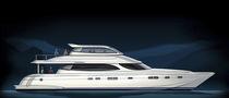 Motor-yacht catamaran / de croisière / à fly fermé / en composite
