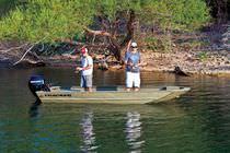 Jon boat hors-bord / de pêche sportive / en aluminium / max. 4 personnes