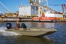 Jon boat hors-bord / à console latérale / de pêche sportive / en aluminium
