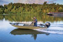 Jon boat hors-bord / à console centrale / de pêche sportive / en aluminium