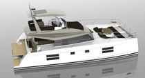 Motor-yacht catamaran / de grande croisière / à flybridge