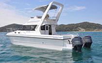 Vedette catamaran / bi-moteur / hors-bord / à fly