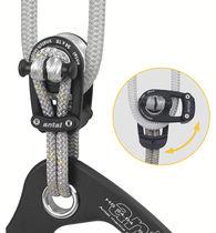 Poulie ouvrante / simple / à fixation textile / cordage max. : 16 mm