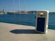 Borne de distribution électrique / avec éclairage intégré / pour ponton / pour yacht