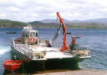 Bateau pour l'aquaculture catamaran / hydrojet