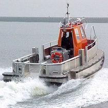 Bateau pour manutention de câble et tuyau catamaran / en aluminium / hydrojet