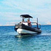 Bateau de travail hors-bord / bateau pneumatique