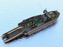 Bateau militaire in-bord / bateau pneumatique semi-rigide