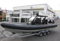 Bateau militaire hors-bord / en aluminium / bateau pneumatique semi-rigide