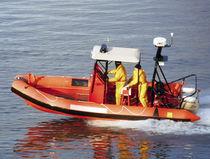 Bateau de surveillance hors-bord / en aluminium / bateau pneumatique semi-rigide