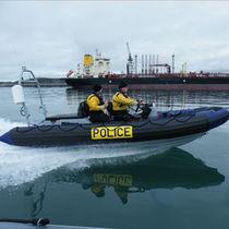 Bateau de travail hors-bord / bateau pneumatique semi-rigide