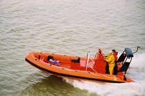 Bateau de recherche et sauvetage in-bord / hors-bord / bateau pneumatique semi-rigide