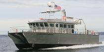 Bateau d'étude hydrographique catamaran / en aluminium