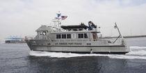 Bateau de surveillance in-bord / catamaran / en aluminium