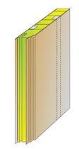 Panneau sandwich pour isolation phonique / pour cloison de navire / laine minérale / en acier
