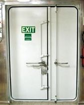 Porte pour navire / coupe-feu / pour chambre froide