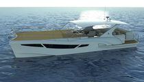 Bateau à fond de verre catamaran / in-bord