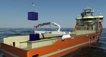 Grue pour navire / de pont / sur rail