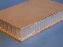 Panneau sandwich décoratif / nid d'abeille / bois