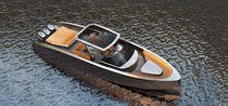 Coque open hors-bord / tri-moteur / 1 ou 2 cabines / T-Top