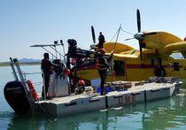 Barge de travail hors-bord / transportable / en aluminium