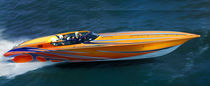 bateau offshore 42 POKER RUN Fountain Powerboats