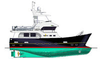 yacht de luxe : motor-yacht trawler &agrave; fly (hybride diesel / &eacute;lectrique) TB55 Explorer TideBreaker