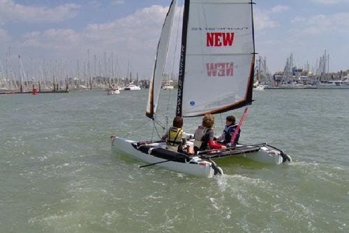 catamaran de sport école / de loisir / enfant / double trapèze