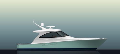 Vedette in-bord / coque à déplacement / hard-top / de sport 48SC  Viking Yachts
