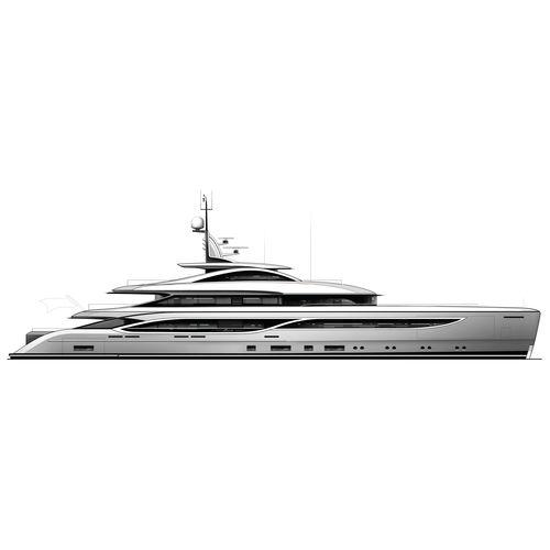 mega-yacht de croisière / raised pilothouse / en acier / aluminium