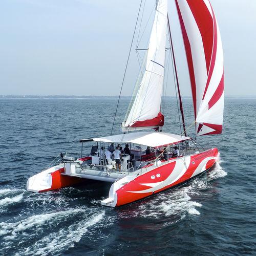 catamaran / de charter / cockpit ouvert / salon de pont