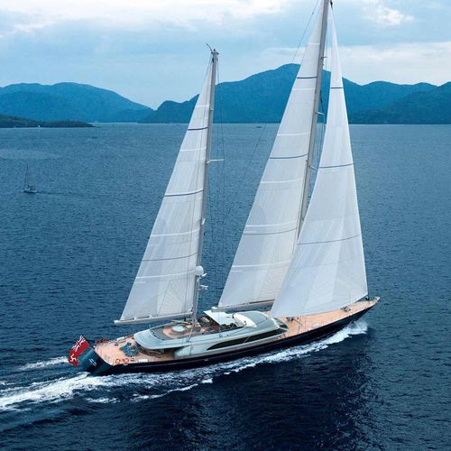 sailing-superyacht de croisière / salon de pont / ketch