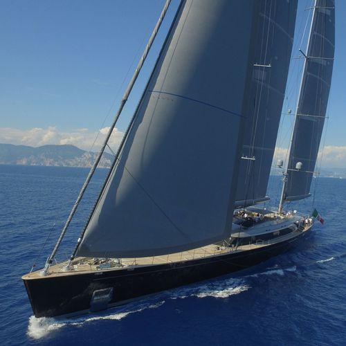 sailing-superyacht de croisière / salon de pont / en aluminium / ketch