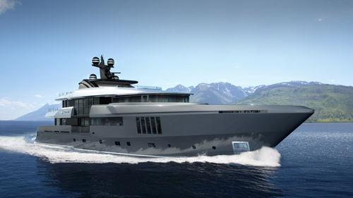 mega-yacht de croisière / avec timonerie / en acier / avec piscine
