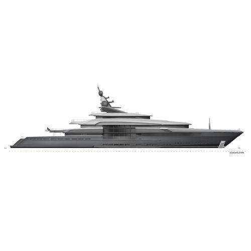 mega-yacht de croisière / raised pilothouse / en acier / avec héliport