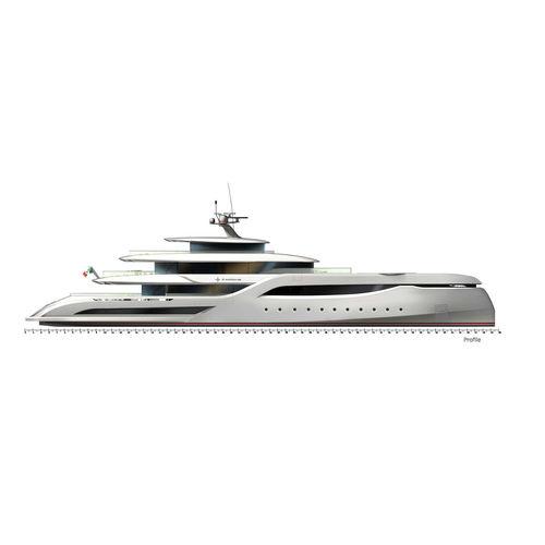 mega-yacht de croisière / raised pilothouse / en aluminium / coque semi-planante