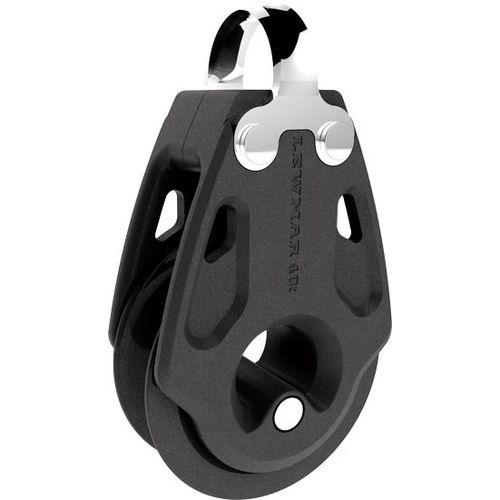 poulie à roulement à billes / simple / à anneau / cordage max. : 10 mm