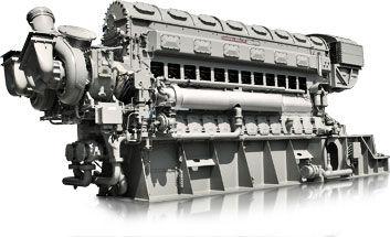 Moteur semi-rapide / pour navire / auxiliaire / bi-carburant 38 8 1/8  Fairbanks Morse