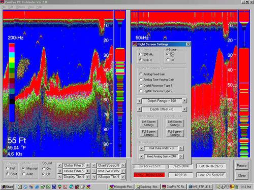 sondeur de pêche pour bateau / couleur / numérique
