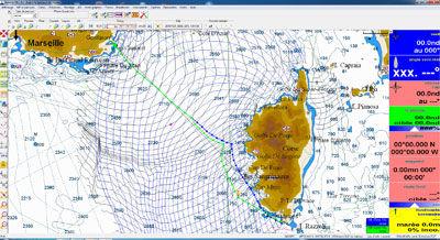 logiciel de navigation / de météo / de routage / pour voilier