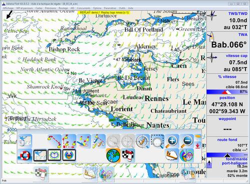logiciel de navigation / pour bateau