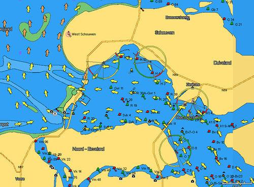 carte marine numérique / 3D