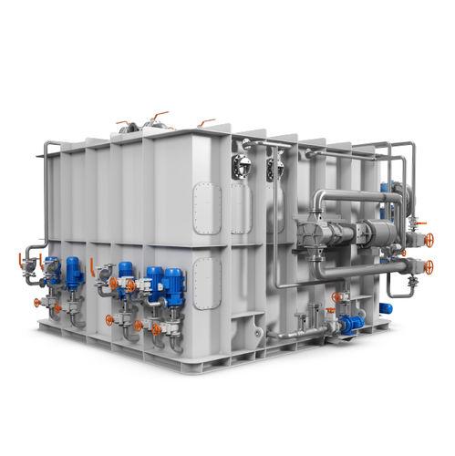 système de traitement des eaux noires / pour navire / avec séparateur / à membrane